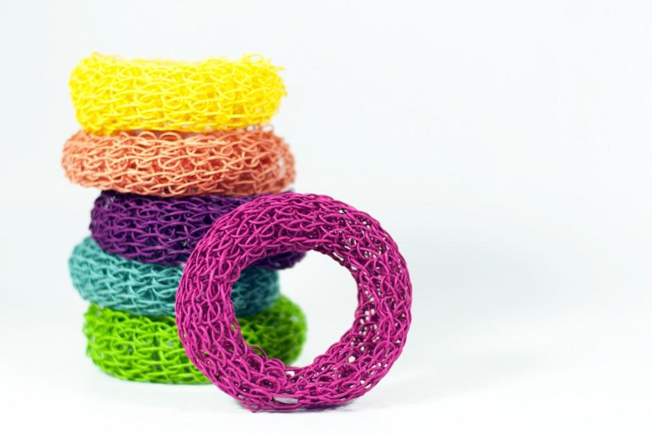 Papierkordel: DIY Kit Strick Strickarmreif Papierschnur Papierschmuck