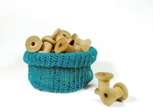 PaperPhine: Papierkordel Strickkorb Strick - DIY Kit - Papiergarn