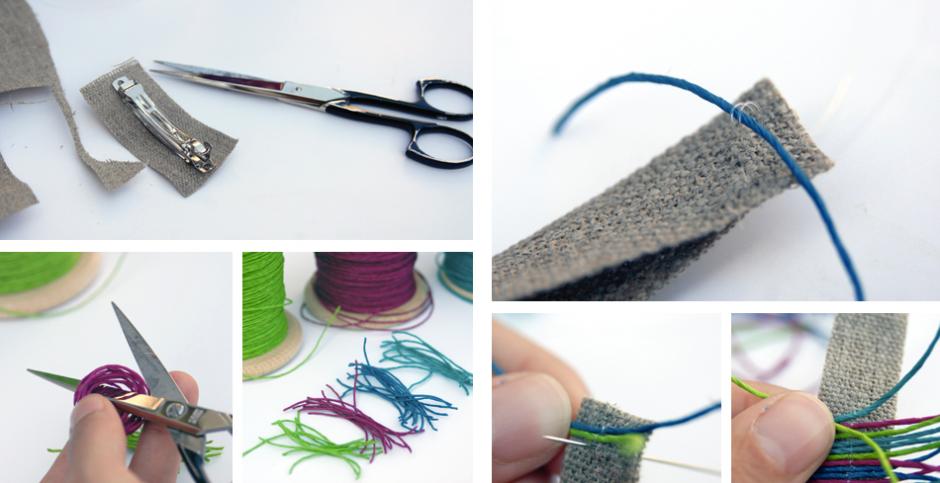 Papierkordel: Haarschmuck, Haarspange, Papierkordel, Anleitung