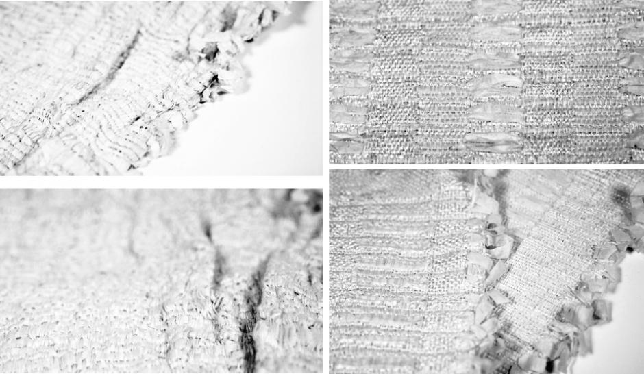 Papierkordel: Weben mit Papiergarn / Papierschnur Weberei
