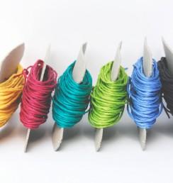 Papierschnüre / Papierkordeln in vielen bunten Farben: zum Stricken, Basteln, Häkeln, Buchbinden, Verpacken, für DIY Projekte und zum Dekorieren...