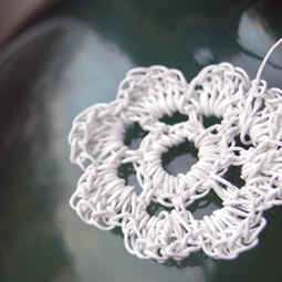Papierkordel-Blume, Häkelblume, PaperPhine
