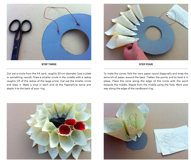 Anne Mannheimer: The Saturday Market Project: Paper Wallflower DIY