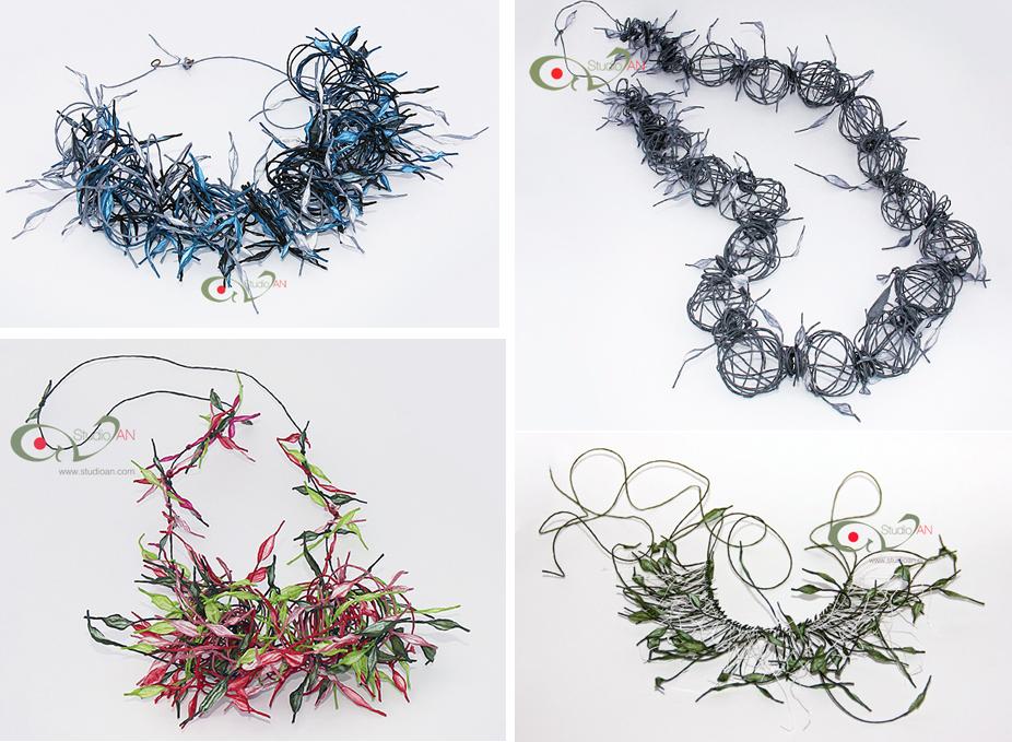 Papierschmuck: Nikoletta Andreadi - Studio AN - Schmuck aus Papiergarn