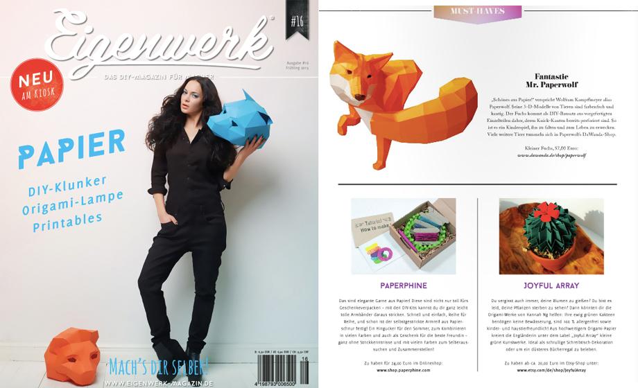 PaperPhine in Druck: Eigenwerk-Magazin