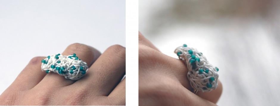 PaperPhine: Ring aus Papierschnur - Häkelring - Papierkordel