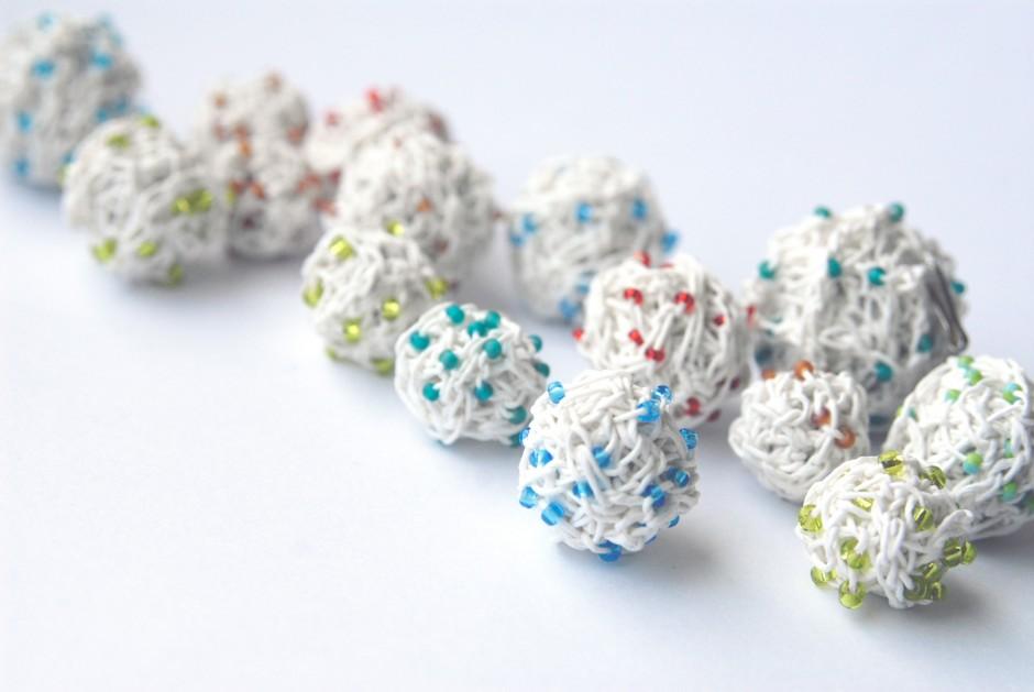 PaperPhine: Papierschnur - Papiergarn - Perlen aus Papierschnur gehäkelt