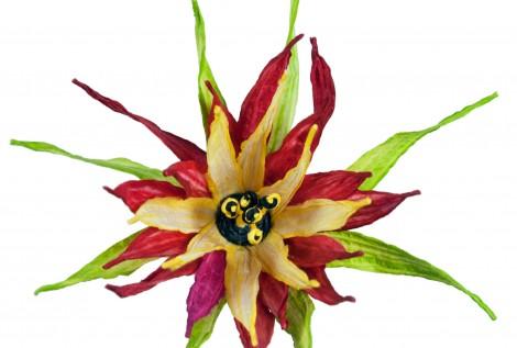PaperPhine: Papierblume aus Papierschnur - Papiergarn