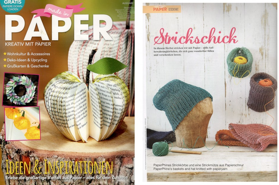 PaperPhine - Made in Paper - PaperPhine in Print - Strick Knit - Made in Paper Ausgabe 15 005