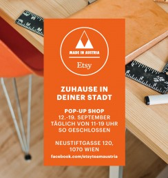 PaperPhine beim Etsy Team Austria Pop-Up Shop in Wien, September 2015