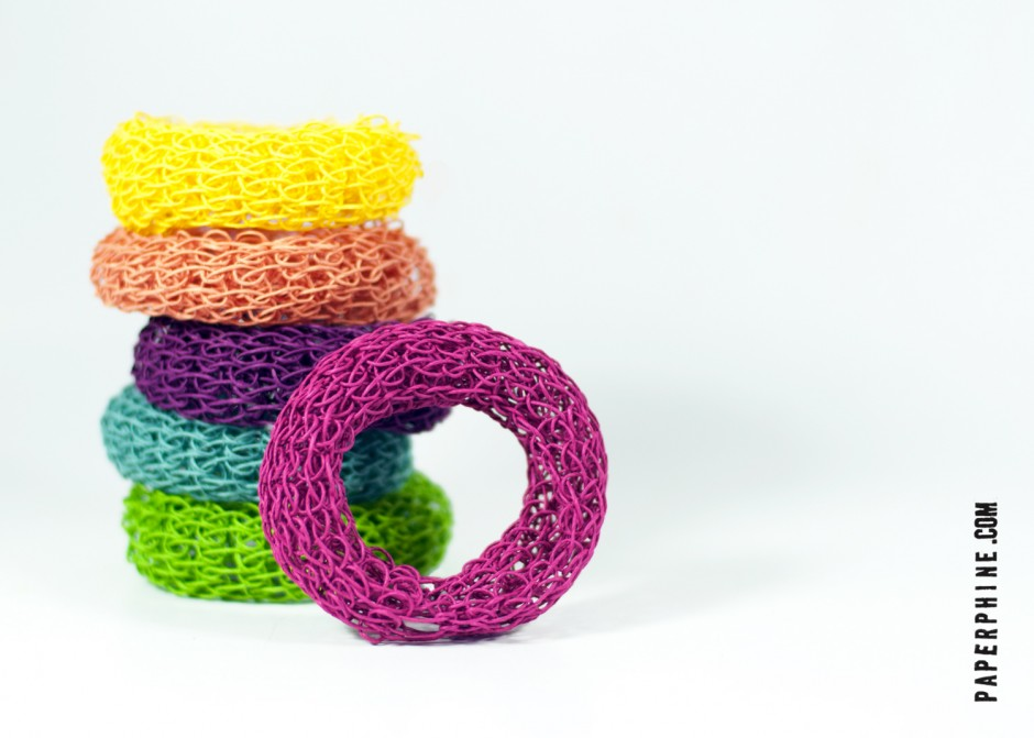 PaperPhine: Knit Bangles